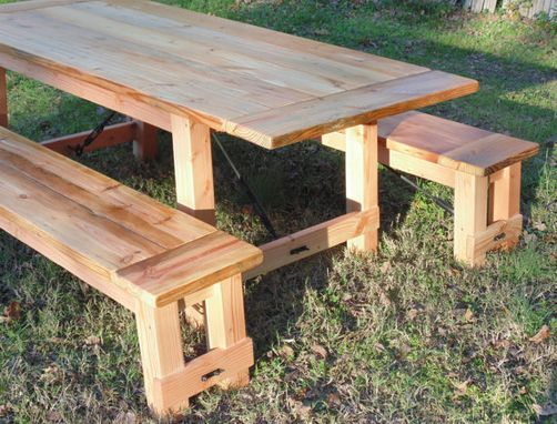 Custom Made Reclaimed Wood Turnbuckle Farmhouse Table