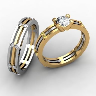 Custom Made Layered Wedding Ring Set