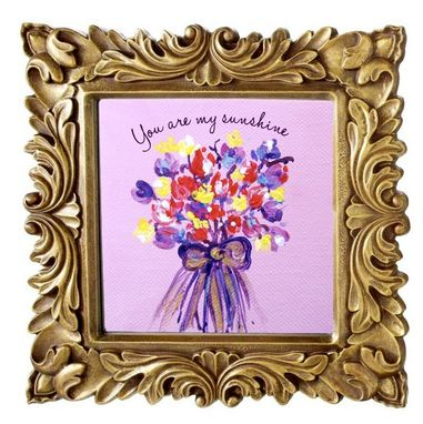 Custom Made Eternal Bouquet - Miniature Original Paintings On Streched Canvas