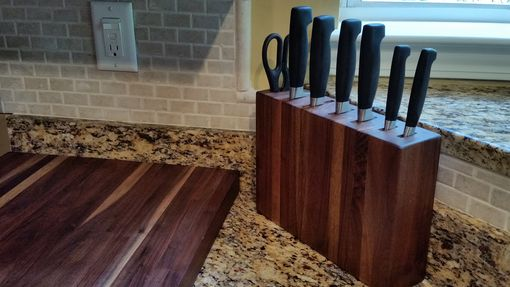 Custom Made Custom Made Walnut Knife Block