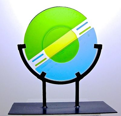 Custom Made Circular Modern Art Glass Sculpture