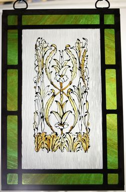 Custom Made Painted Stained Glass Panels
