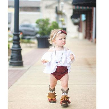 Custom Made Infant (Size 0-5 Only) Customized Gypsy Boots