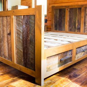 Buy Custom Rustic Platform Storage Bed In Solid Reclaimed