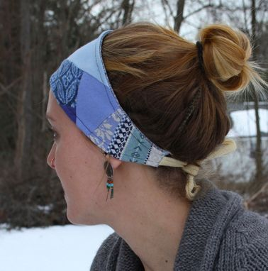 Custom Made Stella Blue Headband/Dreadwrap - One Size