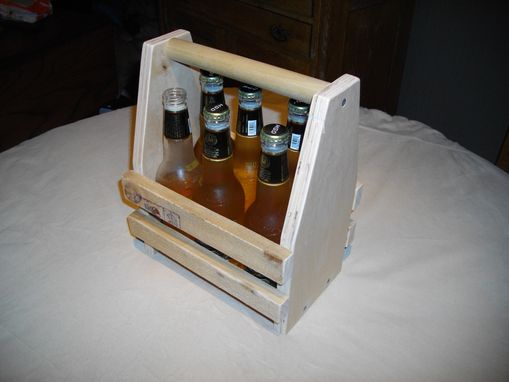 Custom Made 6 Pack Beverage Caddy/Tote