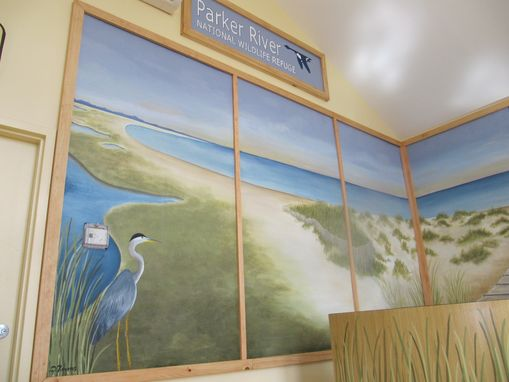 Custom Made Beach Dunes Lanscape Mural And Sign, Parker River National Wildlife Refuge Visitor;S Center, Newburry, Ma.