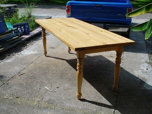 Custom Made 7 Foot Golden Cypress Harvest Table