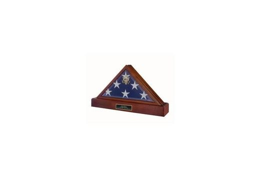 Custom Made American Flag Display Case, Burial Display Case For Flag