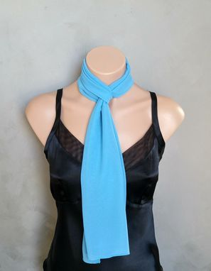 Custom Made Crystal Blue Chiffon Scarf