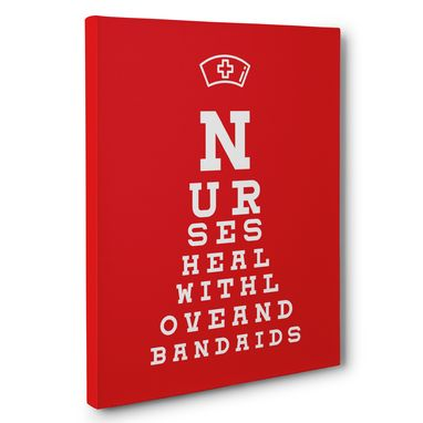 Custom Made Nurse Heal Eye Chart Canvas Wall Art