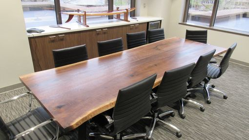 Custom Made Live Edge Black Walnut,Conference Table