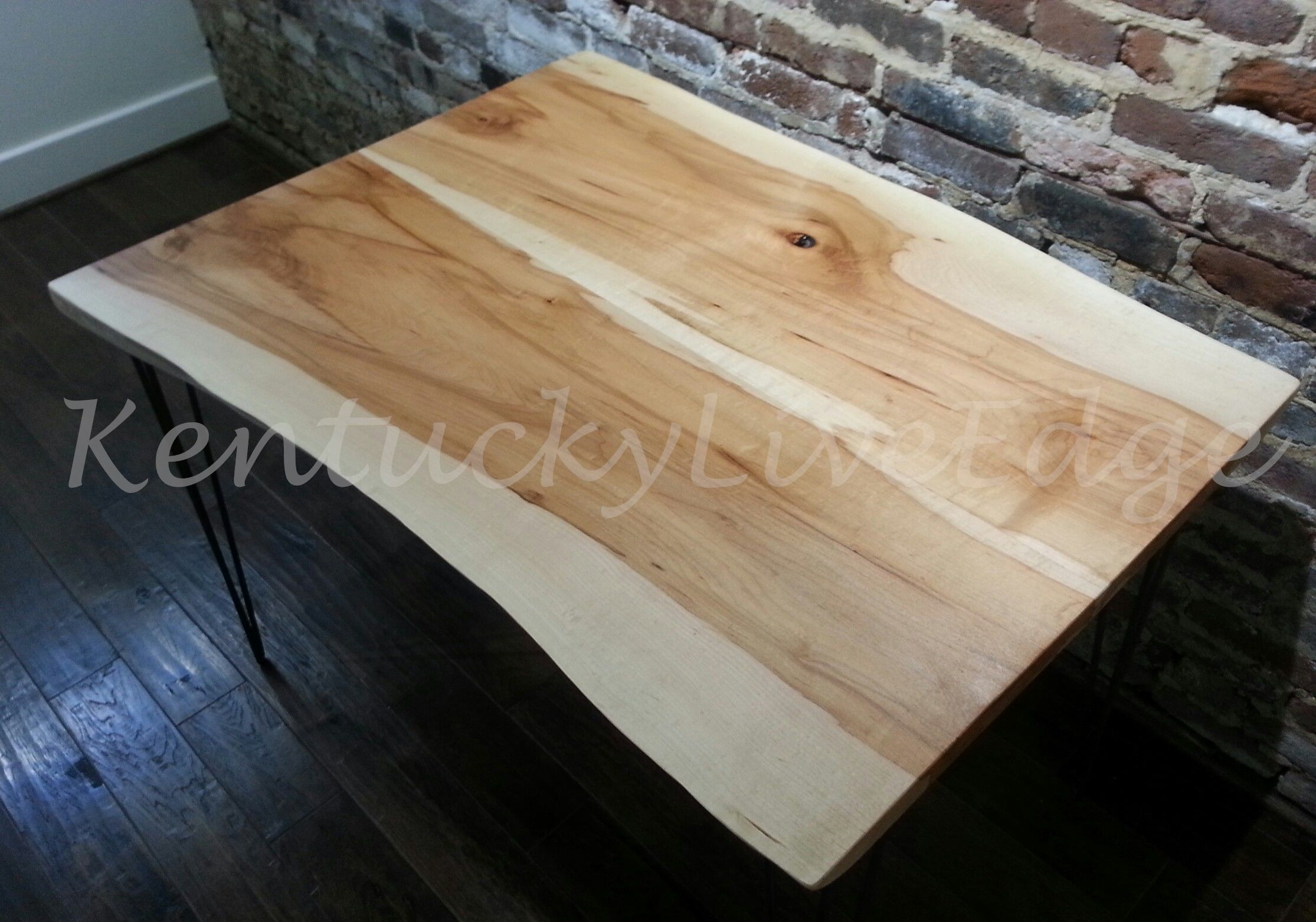 Custom Made Live Edge Dining Table Kitchen Breakfast Writing Desk