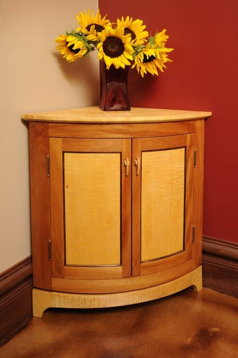 Custom Curve Front Corner Cabinet By Sterling Woodworking