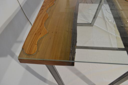Custom Made Glass Wood Table