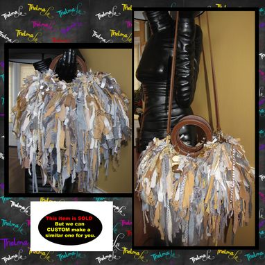 Custom Made Unique Fringe Handbag,Fringe Handbag,Custom Made,One Of A Kind,Hippie,Boho,Funky,Purse,Tote