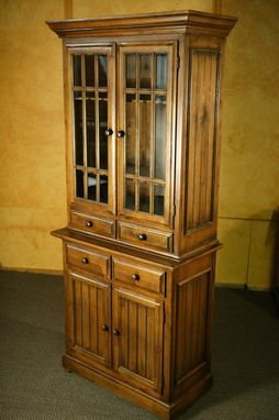 Custom Made Armoire Tv Cabinet With Glass