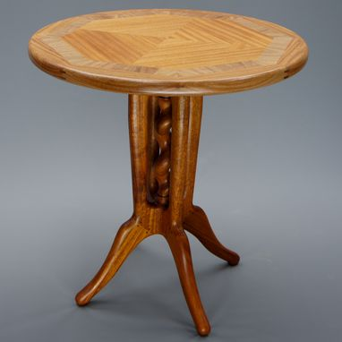 Custom Made Caged Barley Twist Pub Table