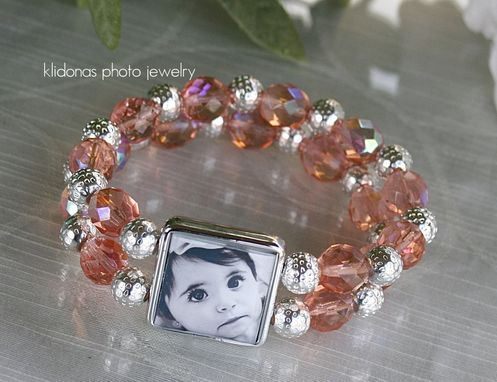 Custom Made Photo Bracelet, Mother Of The Bride And Groom Gift, Wedding Jewelry