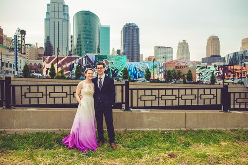 Custom Made Custom Ombre Wedding Gown Example