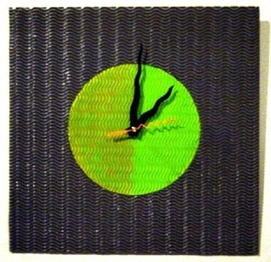 Custom Made Custom Colors Wavy Clock