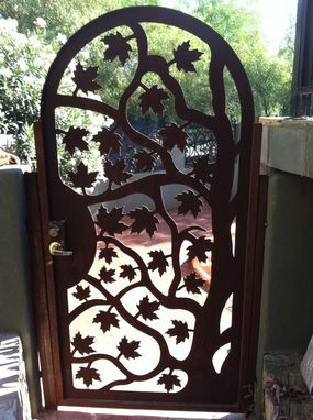 Custom Made Metal Art Gate Designer Italian Iron Steel Garden Factory Direct