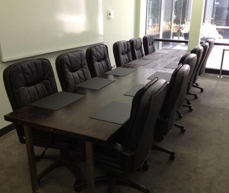 Custom Made Solid Oak Conference Table