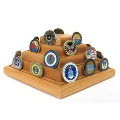 Custom Made Geocoins Display, Geocoins Coin Holder, Military Geocaching