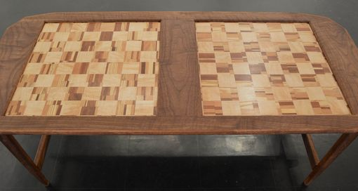 Custom Made Coffee Table Featuring A Double Chess Board