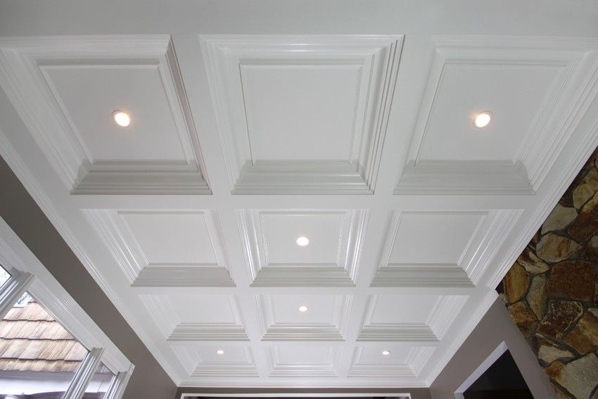 Custom Made Coffered Ceiling System 3 By Fanatic Finish