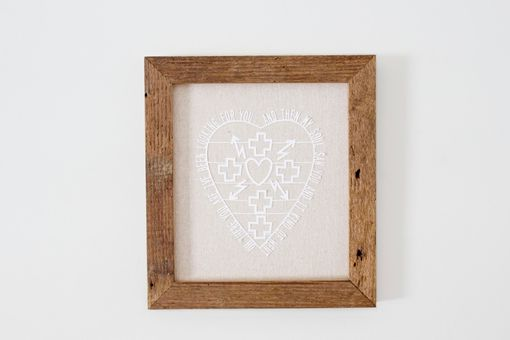 Custom Made Paper Cut Heart Quote On Reclaimed Barn Wood Frame
