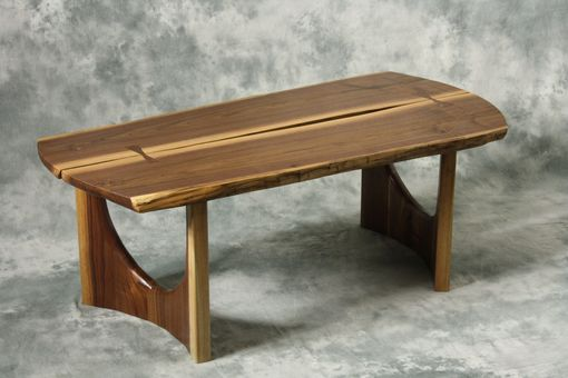 Custom Made Live Edge Coffee Table / Slab Stance Series