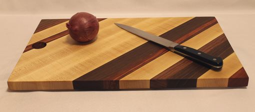 Custom Made Cutting Board Of Four Woods