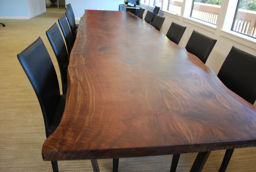 Custom Made Walnut Slab Conference Table