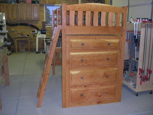 Custom Made Black Cherry Loft Bed