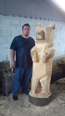 Custom Made Big Bear Chainsaw Sculpture