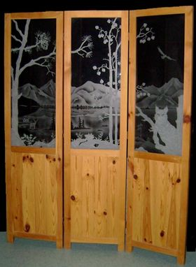Custom Made Bobcat Folding Screen
