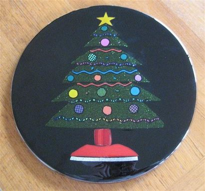 Custom Made Fused Glass Christmas Tree Platter