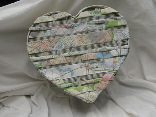 Custom Made Heart-Shaped Map Basket