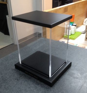 Custom Made Acrylic Display Case With Base