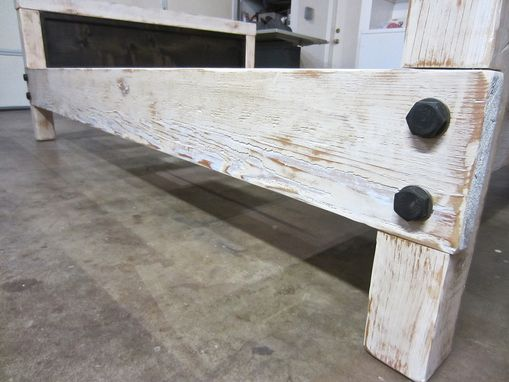 Custom Made Rustic Industrial Bed (Queen)