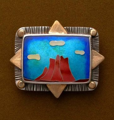 Custom Made Bell Rock, Sedona Az-Pin And Pendant