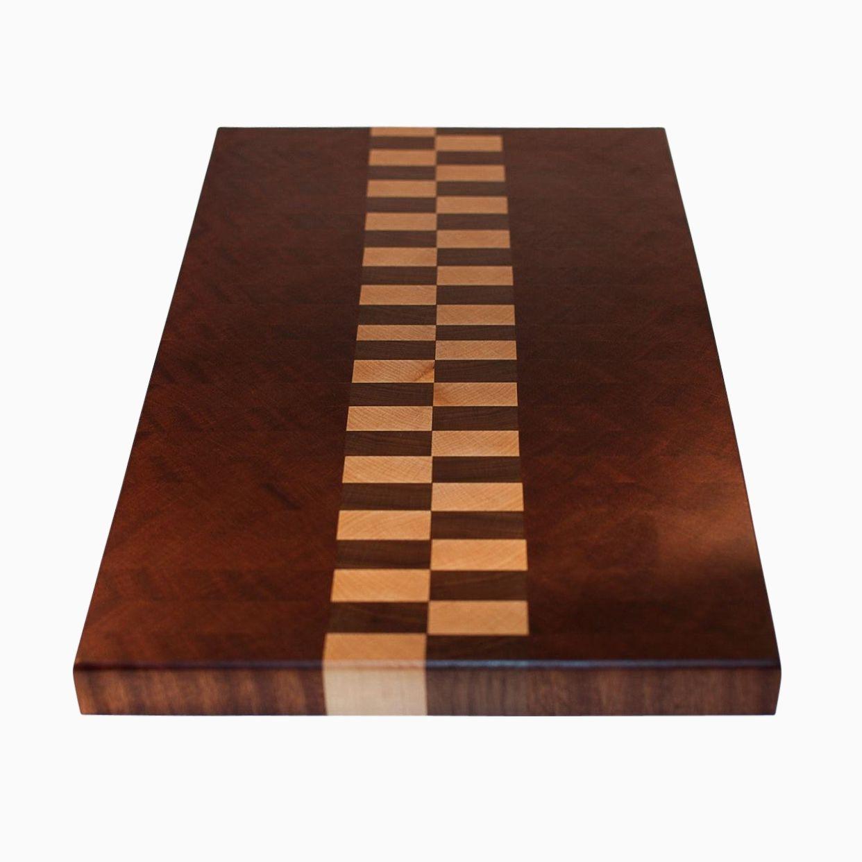 Cutting Board: Hand Made Mahogany And Walnut End Grain Cutting Board By