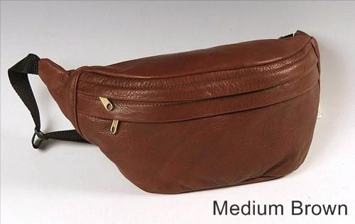 Custom Made Leather Brown Fanny Pack