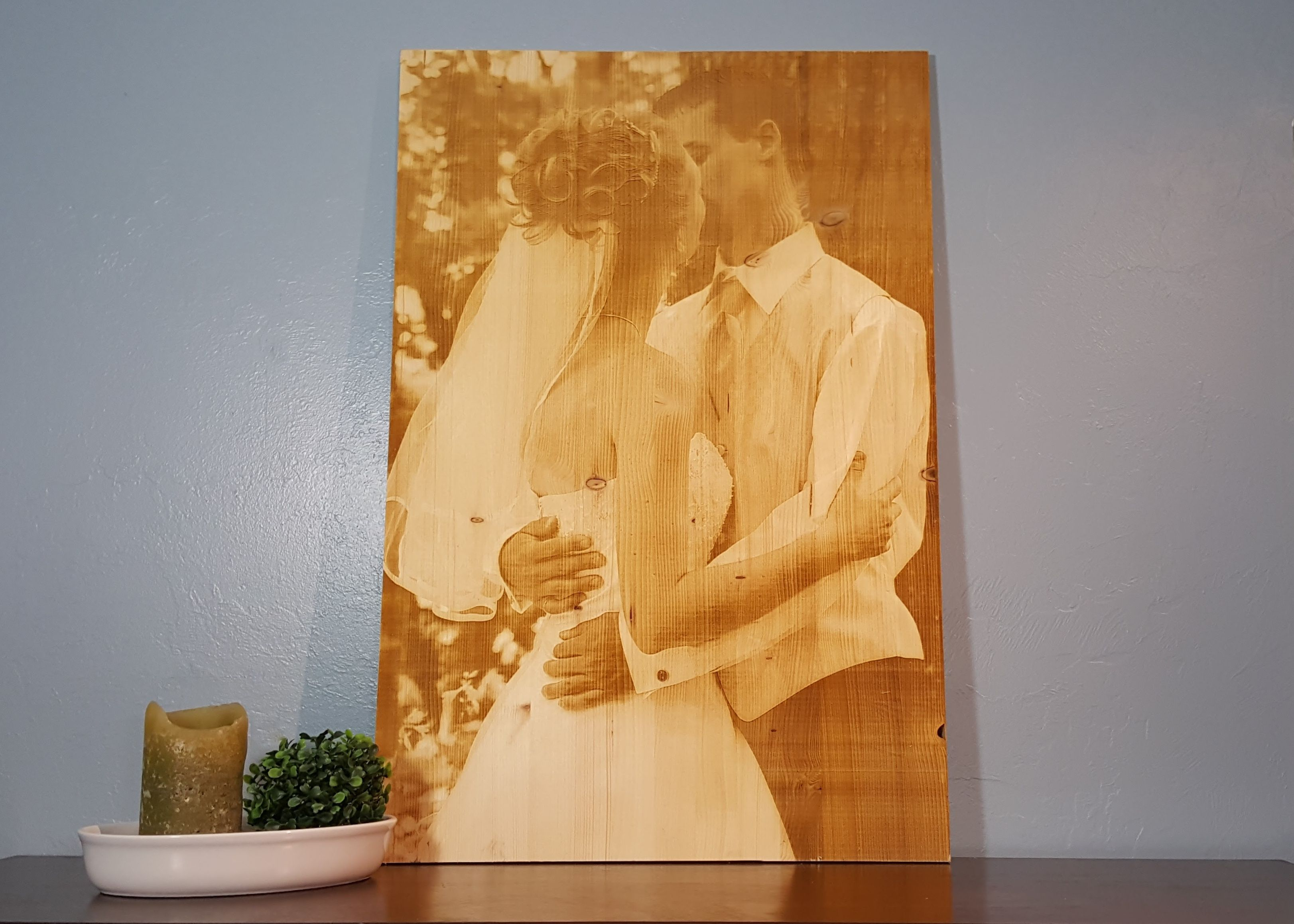 Handmade Wood Engraved Photo by Spectrum Designs | CustomMade.com