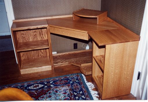 Custom Made Corner Computer Desk