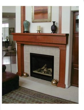 Custom Made Fireplace Mantle And Detailed Wall Frame