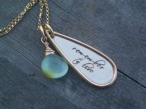 Custom Made Charm Necklace With Gold Teardrop