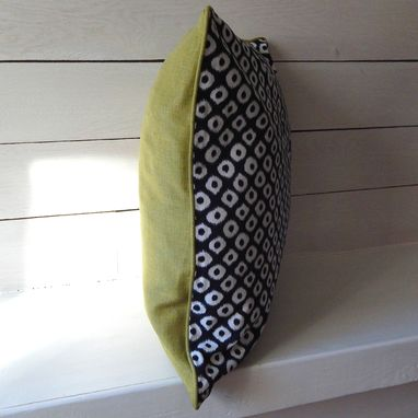 Custom Made Indgo Ikat Pillow