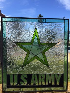 Custom Made Us Army Stained Glass Window